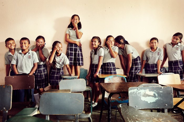 students in Matomoros, Mexico