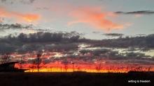 sunset, poetry, glory
