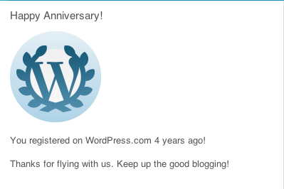 4 year blogging anniversary