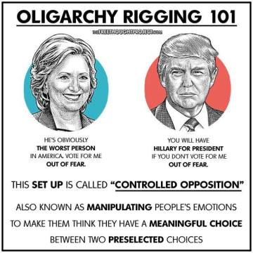 oligarchy, rigged political system