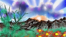 painting #35, poetry, digital art