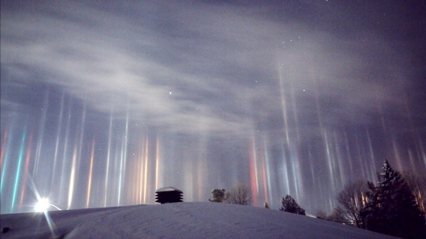 light pillars, poetry, photography