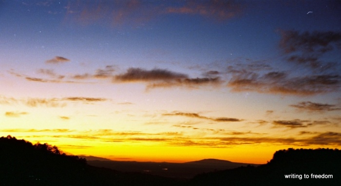 sunset, haunting, chimera