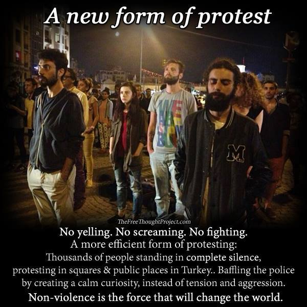 peaceful protest,